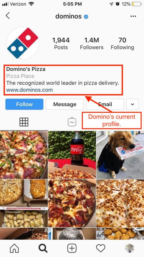 How to write your restaurant's Instagram bio