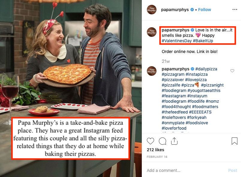 promoting take-and-bake pizzas