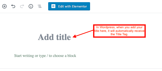 """Add Title"" box on WordPress"