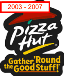 "Pizza hut slogan ""gather 'round the good stuff"""
