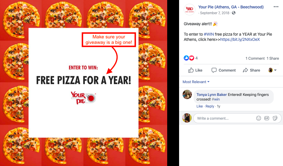 marketing pizza