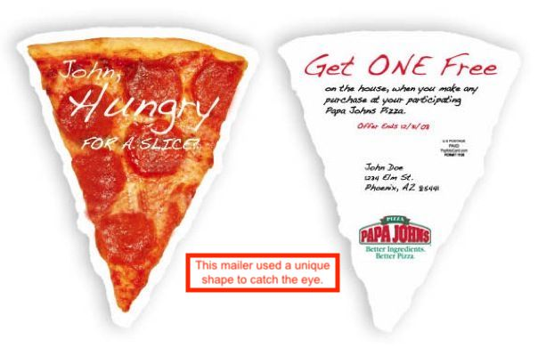 direct mail ads for pizza