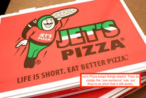 types of slogans for pizzerias